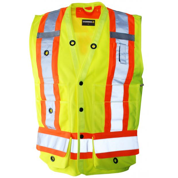 Small Lime Surveyor Vest