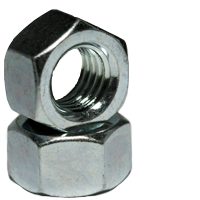"1/4""-20 Plated Finished Grade 2 Hex Nut"