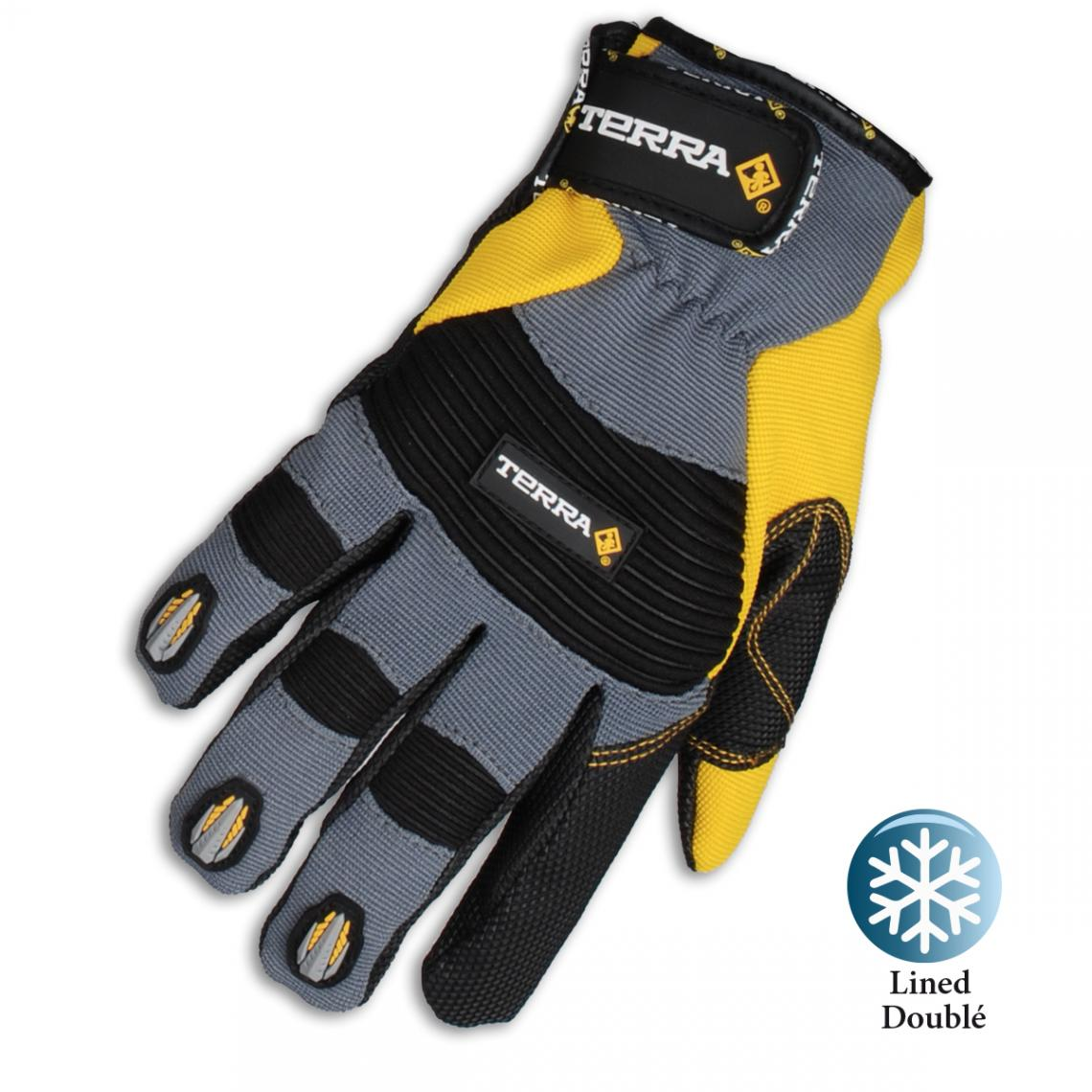 Large Fleece Lined Terra Mechanics Work Gloves
