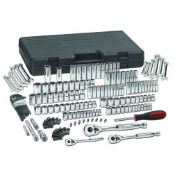 "165 PC. 1/4"", 3/8"" & 1/2"" DRIVE 6 POINT STANDARD & DEEP SAE/METRIC MECHANICS TOOL SET"