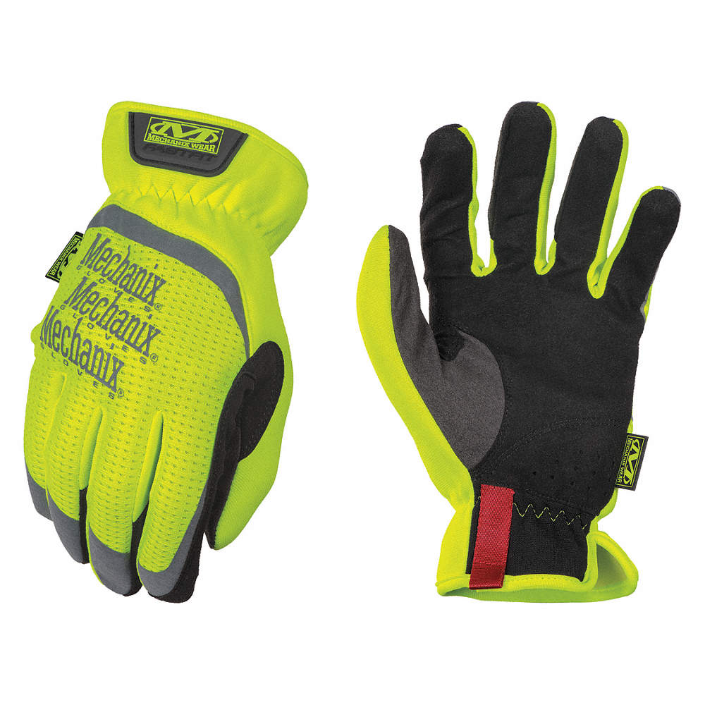 SMALL HIGH VISIBILITY YELLOW  FAST FIT GLOVES