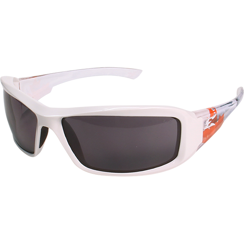 True North 4 White Frame Smoke Lens Safety Glasses