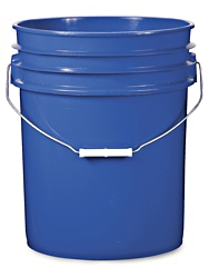 19L (5 U.S. Gallon) Blue Plastic Bolts Plus Pails
