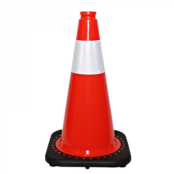 "18"" Orange Traffic Cone With White Collar"