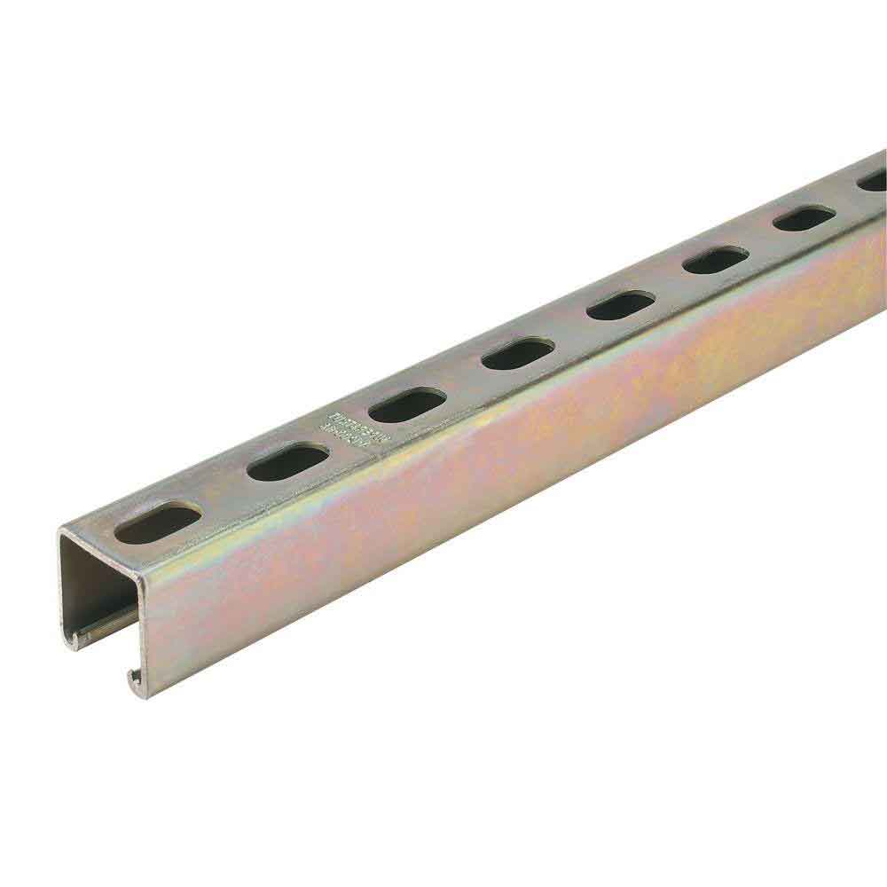 "1-5/8"" x 1-5/8"" x 10ft Slotted Strut Channel"