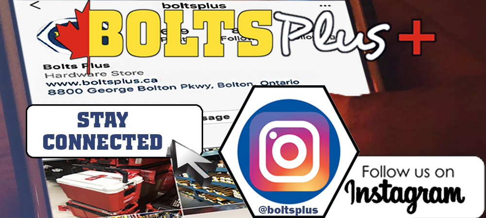 Stay Connected. Follow us on Instagram @boltsplus
