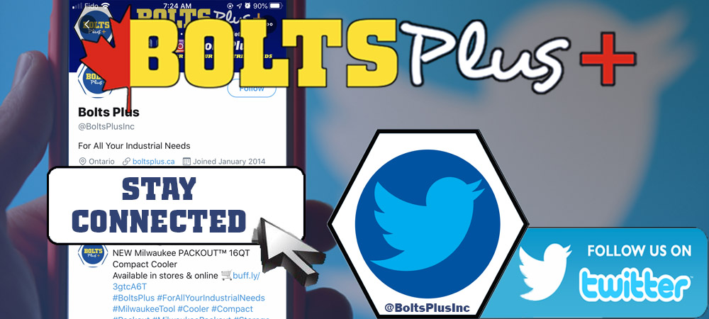 Stay Connected. Follow us on Twitter @BoltsPlusInc